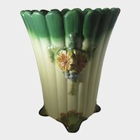 Weller Florenza Vase in Floral Pink, Cream and Green