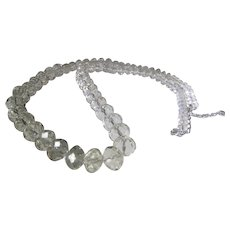 Signed Cut Crystal Beads Necklace