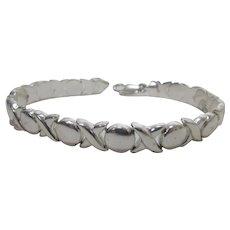 Sterling Silver Segment X and O Italian Bracelet