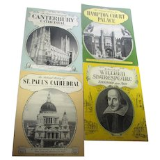 Four Pitkin Pride Of Britain Souvenir Guides Hampton Court Palace, Canterbury Cathedral, St Paul's Cathedral and Shakespeare's Life