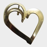 Sterling Silver Vermeil Floating Heart Pendant