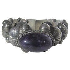 Sterling Silver Amethyst Bracelet Made in Mexico