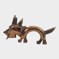 Copper Modernist Dog Pin