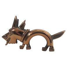 Copper Modernist Dog Pin