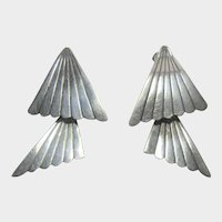 Sterling Silver Pierced Earrings With Hinged Movement