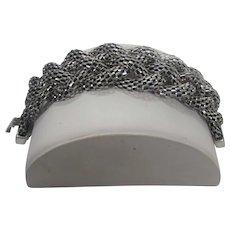 Silver Tone Braided Bracelet