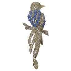 Nolan Miller Blissful Blue Bird Pin