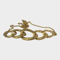 Vintage Napier Bold Gold Tone Necklace In Links