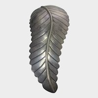 Native American Sterling Silver Leaf Pin or Pendant
