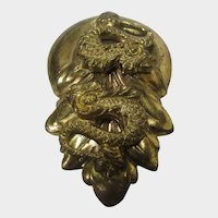 Vintage Sam Biern Gold Tone Serpent Pin