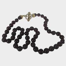 Nolan Miller Bordeaux Bead Venetian Toggle Necklace MIB