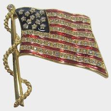 Vintage Camrose & Kross Jackie Kennedy Replica 1777 Flag Pin