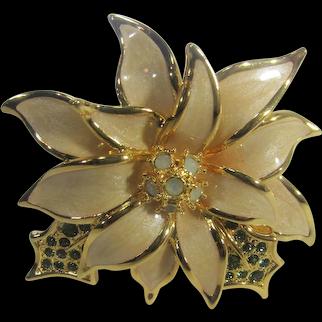 Nolan Miller Poinsettia Pin Mint in Box