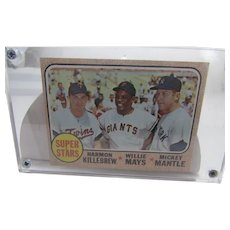 1968 Topps #490 Super Stars Killebrew, Mays and Mantle