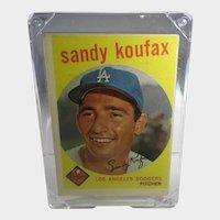 Sandy Koufax 1959 Topps #163