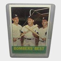 1963 Topps Baseball #173 BOMBER'S BEST Tresh Mickey Mantle Richardson