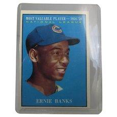 Ernie Banks - 1961 Topps #485 MVP - Chicago Cubs