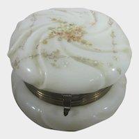 Wavecrest Vintage Hand Enameled Dressing Jar in Yellow Floral Design
