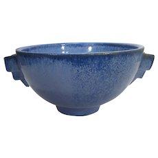 Fulper Deco Blue Glaze Bowl
