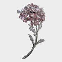 "Nolan Miller ""Pink Baguette Boutinierre Pin"" Mint in Box"