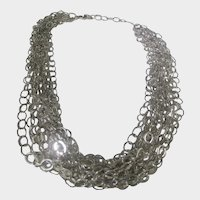 Sterling Silver 10 Strand Necklace