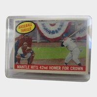 Mickey Mantle Hits 42nd (Homer For Crown) 1959 Topps #461