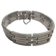Vintage Early Mexican Sterling Silver Link Bracelet
