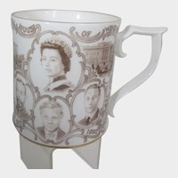 House Of Windsor 75th Anniversary Mug by Peter Jones