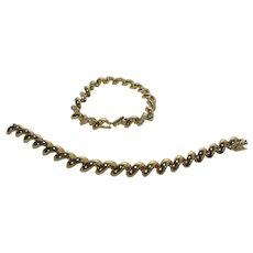 Vintage Joan Rivers Classic Pair of Gold Tone Link Bracelets