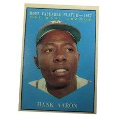 Hank Aaron (MVP) 1961 Topps 426  and 1967 RBI Leaders Aaron, Clemente and Cepeda