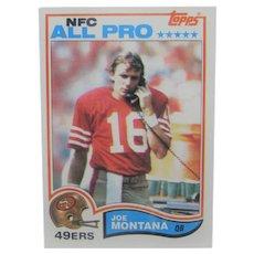 Joe Montana 1982 NFC All Pro Card #488