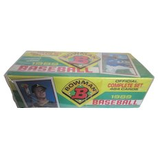 1989 Bowman Baseball Factory Set (484 Cards) Unopened