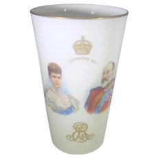 King Edward VII and Queen Alexandra 1902 Royal Coronation Commemorative Tall Beaker Royal Doulton