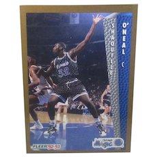 1992 Fleer Shaquille O'Neal #401 Basketball Rookie Card