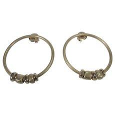 Robert Lee Morris Classic Hoop Earrings For Pierced Ears