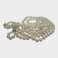 Camrose and Kross Replica Necklace Worn By Jacqueline Bouvier Kennedy Faux Pearls in Original Box
