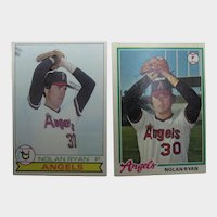 Nolan Ryan Topps Cards 1978 and 1979  #115 and #400