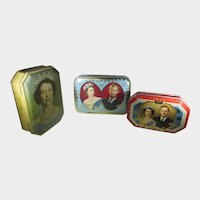 Queen Elizabeth II  Candy Tin Boxes Coronation and Canadian Visit