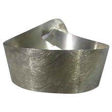 Sterling Silver Modernist Cuff With Brushed Look