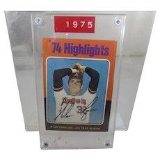 1975 Topps Nolan Ryan 1974 Highlights Nolan Fans 300 # 5