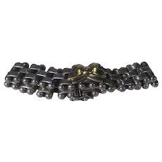 Sterling Silver and 18 Karat Gold Link Bracelet