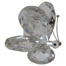 Swarovski Crystal LARGE BUTTERFLY on Circular Base #010002