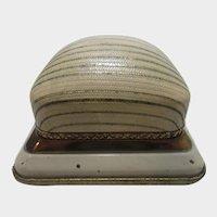 Vintage Deco Cream Enamel Ring Display Box