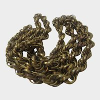 Vintage Brass Chain Necklace 36 Inches Long