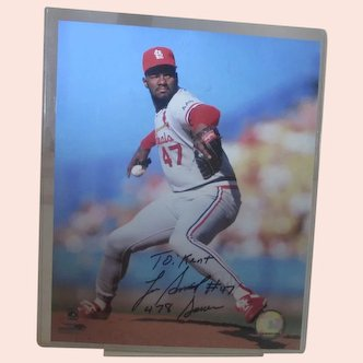 Lee Smith Hall Of Fame Autograph Picture
