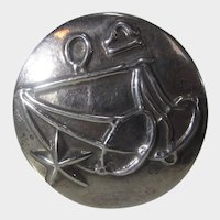 Sterling Silver Mexican Modernist Pin