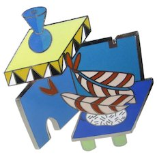 Peter Shire Doheny Brooch from 1985 Collection