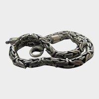 Sterling Silver Bracelet With Unusual Link