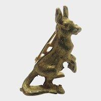 Vintage Petite Gold Tone Kangaroo Pin