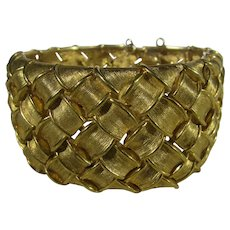 Vintage Boucher Gold Tone Braided Bracelet